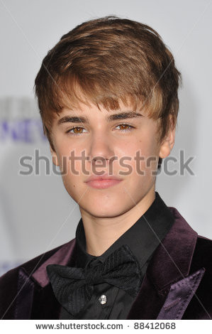 stock photo : Justin Bieber at the Los Angeles premiere of his new ...