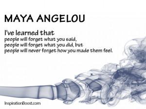 Memory Quotes – Maya Angelou