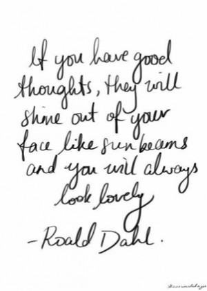 Roald Dahl Sunbeams Quote