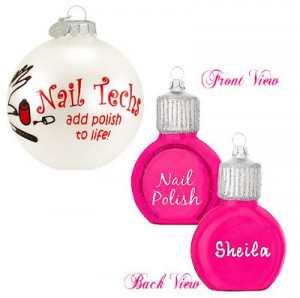 Nail Tech Ornament 8 99 and Personalized Nail Polish Ornament 7