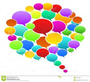 Colored Speech Bubbles Vector Illustration.