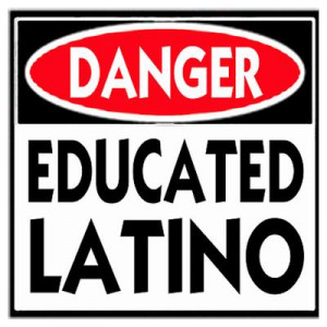 CafePress > Wall Art > Posters > Danger Educated Latino Poster