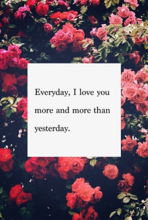 Everyday I Love You More Pictures, Photos, and Images for Facebook ...