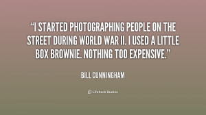started photographing people on the street during World War II. I ...