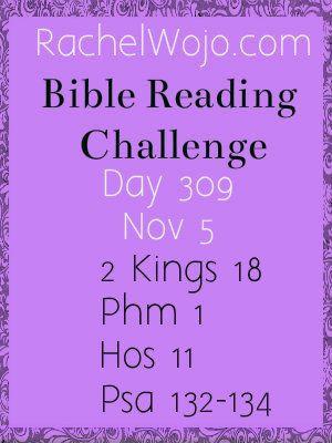 Bible Reading Challenge Day 309 #bibleinayear