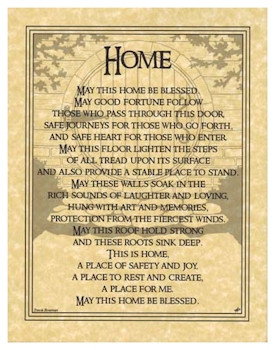 Pagan Parchment Poster - Home Blessing