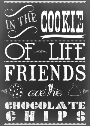 ... Chalkboard Printable celebrating National Chocolate Chip Cookie Day