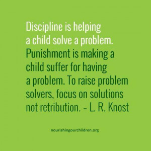 Why discipline is different from punishment
