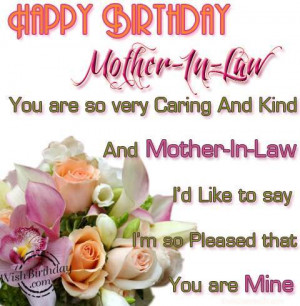 Happy Birthday To A Special Mother-In-Law ♥