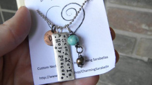 Young Women Necklace, Stand Ye in Holy Places quote