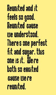 ... Reunited - song lyrics, song quotes, music lyrics, music quotes, songs