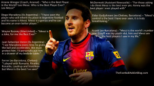 Football Quotes Messi Quotes on barcelona