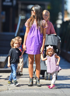 Camila Alves And Kids Out
