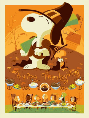 Snoopy And Woodstock From Charlie Brown Thanksgiving