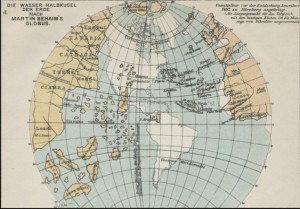 Africa on the facsimile globe produced by Greaves & Thomas