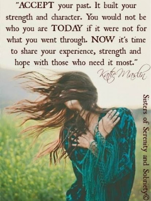 ... offer your experience, strength and hope to those who need it most