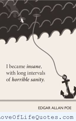Edgar Allan Poe quote on insanity
