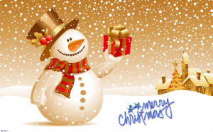 cute snowman merry christmas images wallpaper Wallpaper with 1915x1197 ...
