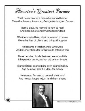 Kids Poems for Black History Month Kids Poem, George Washington Carver ...
