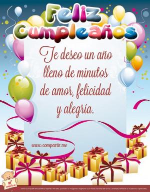 Frases de feliz cumpleaños 5
