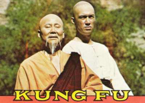 David Carradine playing a very white Shaolin monk in the 70's TV ...