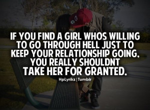 Don't take her for granted*