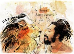 dreadlocks, dreads, lion, motto, phrase, power, rasta, reggae