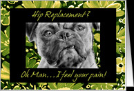 Hip Replacement Surgery Get Well Card with Funny Pug Dog card ...