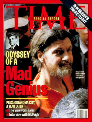 Ted Kaczynski. Time . April 1996. Known as the Unabomber, Kaczynski ...