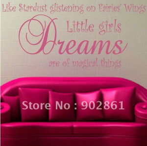 ... ship 45x98cm Stardust Glistening Girl Vinyl Wall Quote Saying decals
