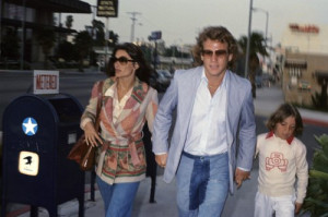 Ryan O'Neal, Griffin O'Neal and Anouk Aimee circa 1970s