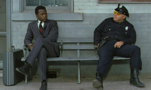 Sidney Poitier And Rod Steiger Scene From The Movie