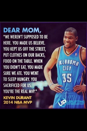 MVP Kevin Durant Quote