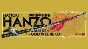 movies kill bill quentin tarantino swords fan art hattori hanzo