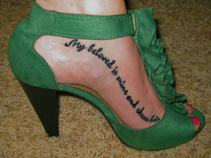 25 Refined Foot Tattoos Quotes - 7