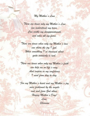 ... Poem, Decea Mothers, Mothers Day Poem From, Poem Quotes Sayings, Cute