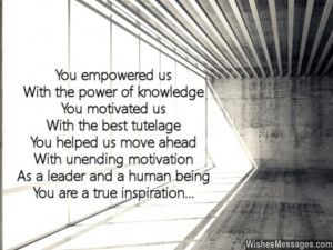 Inspirational poem for boss leader motivation and leadership