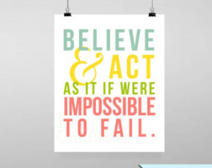 Impossible To Fail Printable Wall A Rt By BitsyCreations Instant
