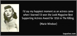 More Marie Windsor Quotes