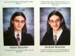 Sets Of Twins Who Used Their Yearbook Real Estate Wisely