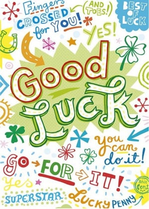 Good luck quotes, best, positive, sayings, nice