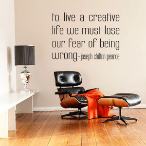to live a creative life wall quote decal