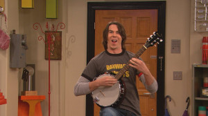 Spencer and his banjo!