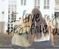 picture if best friends with a quote overlaid on the picture a ...
