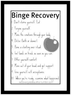 HELPFUL STEPS TO BINGE EATING RECOVERY...