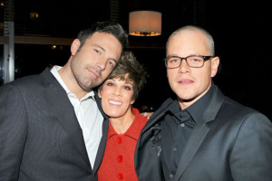 Peggy Siegal with Ben Affleck and Matt Damon. Photo: Marion Curtis ...