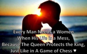 ... the queen protects the king just like in a game of chess