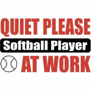 Quiet Please Softball Player At Work Photo Cut Outs