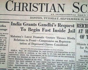 Details about MAHATMA GANDHI Hunger Strike Begins FAST UNTO DEATH 1932 ...