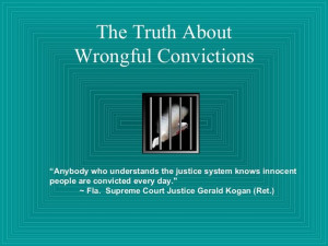 the-truth-about-wrongful-conviction by Sheila Berry via Slideshare